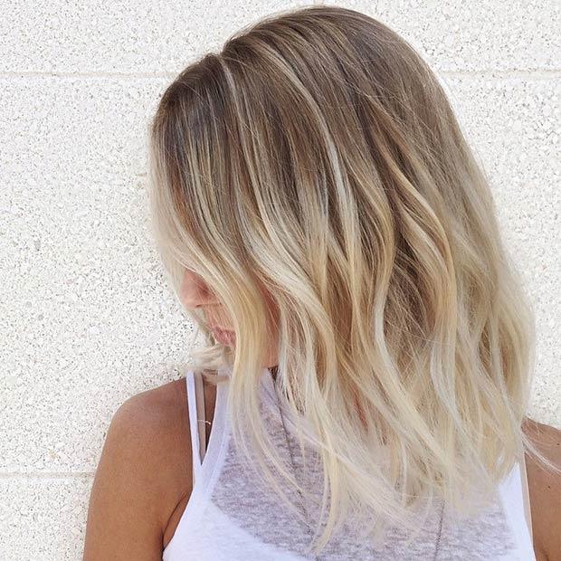 Textured Blonde Lob