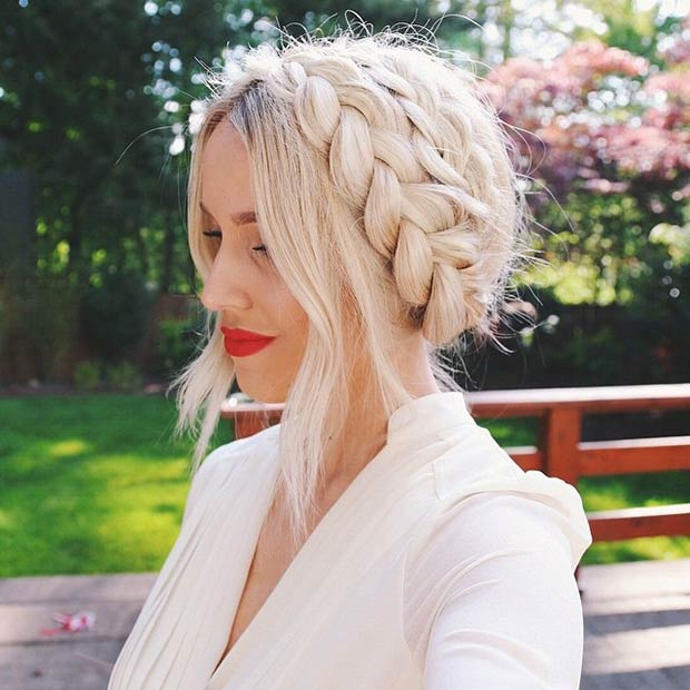 Milkmaid French Braid Updo