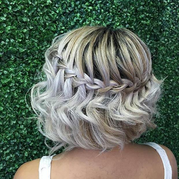 Waterfall Braid on Short Hair
