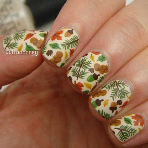 Cute Fall Nail Art Design