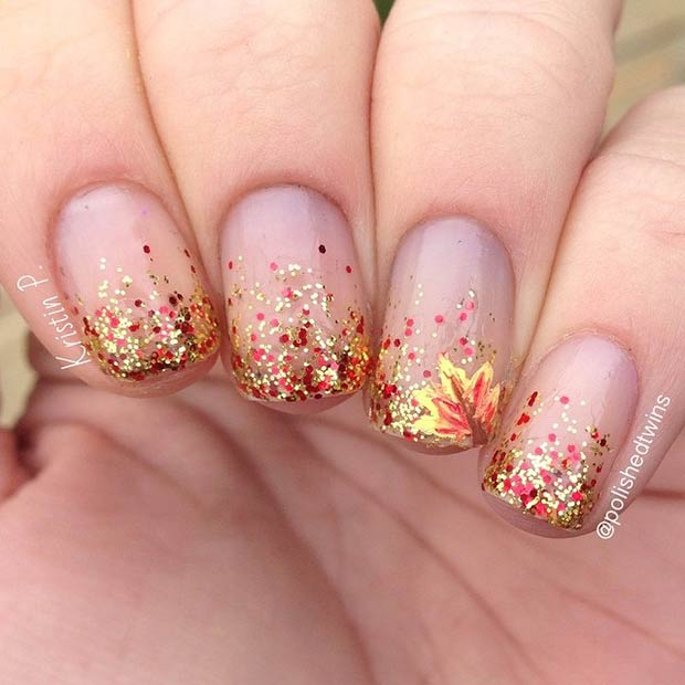 35 cool nail designs to try this fall stayglam instagram polishedtwins prinsesfo Image collections