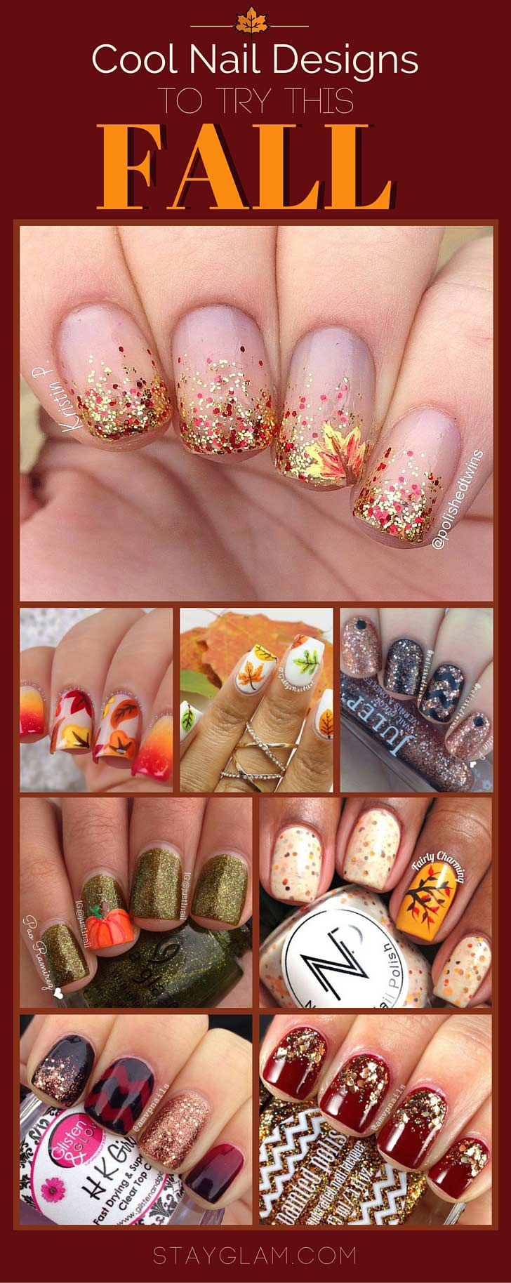 Cool Nail Designs Ideas: 35 Cool Nail Designs To Try This Fall