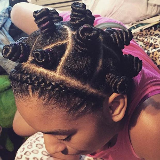 Braids and Bantu Knots Style