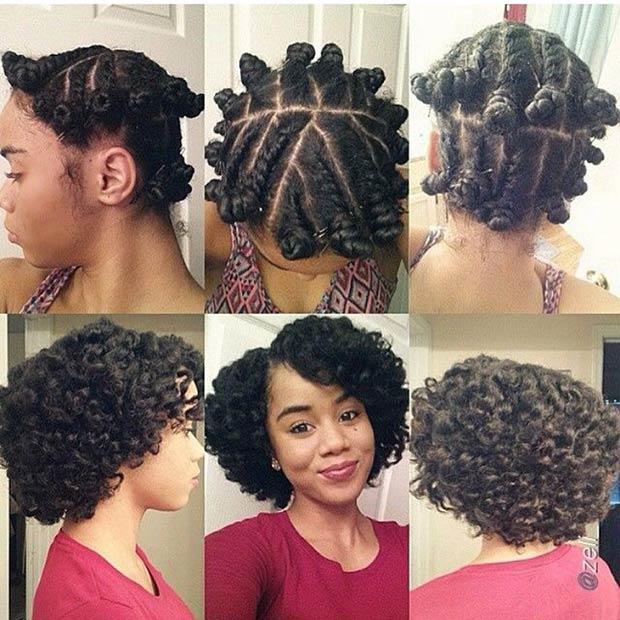 Flat Twists and Bantu Knots Curls