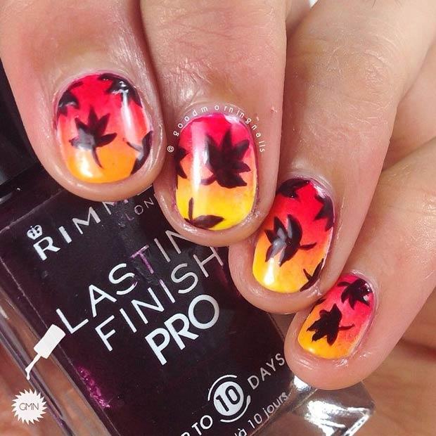 Fall Ombre Nail Design