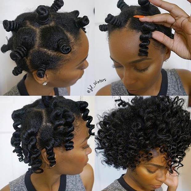 Voluminous No Heat Curls