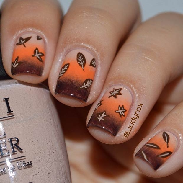 Fall Gradient Nails