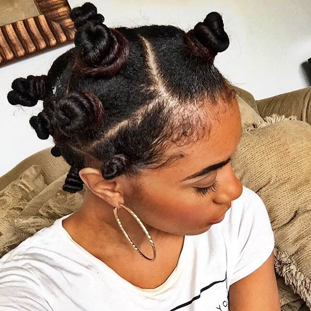 Easy Protective Style with Bantu Knots
