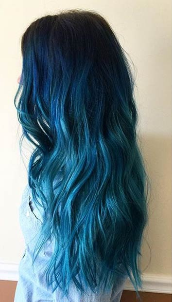 Baby Blue Hair Chalk