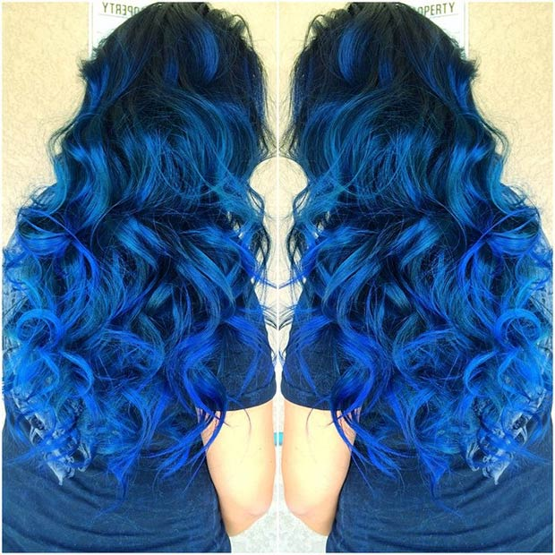 29 blue hair color ideas for daring women page 3 of 3 stayglam. Black Bedroom Furniture Sets. Home Design Ideas