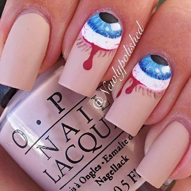 Enchanting Jason Halloween Nails Crest - Nail Paint Design Ideas ...