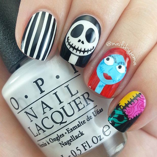35 Cute and Spooky Nail Art Ideas for Halloween | Page 2 ...