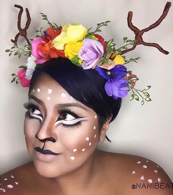 cute deer makeup look instagram nanibeats