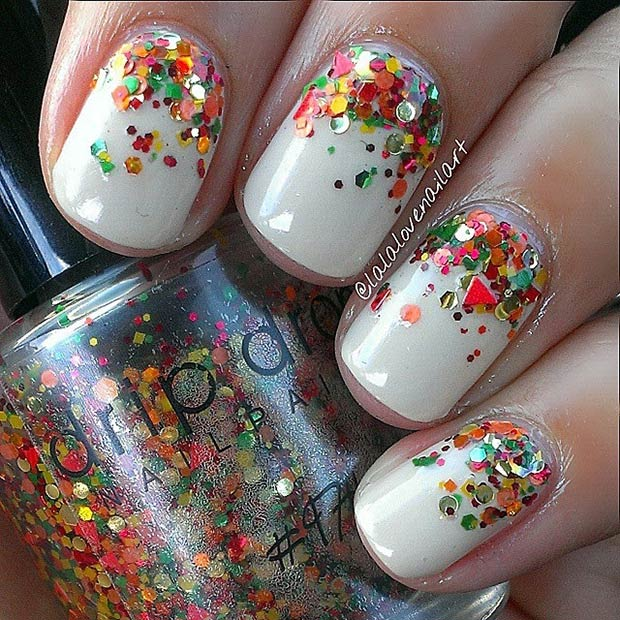 Instagram / lalalovenailart - 21 Amazing Thanksgiving Nail Art Ideas StayGlam