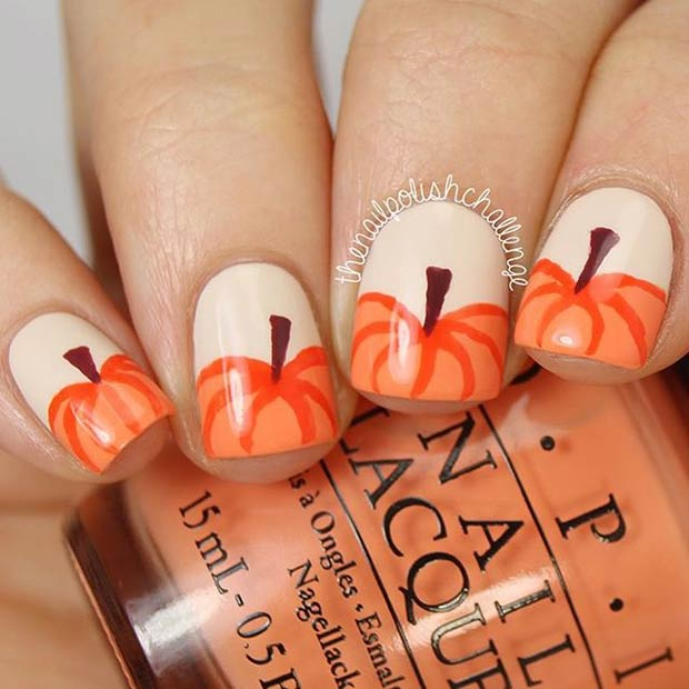 Instagram / thenailpolishchallenge - 21 Amazing Thanksgiving Nail Art Ideas StayGlam
