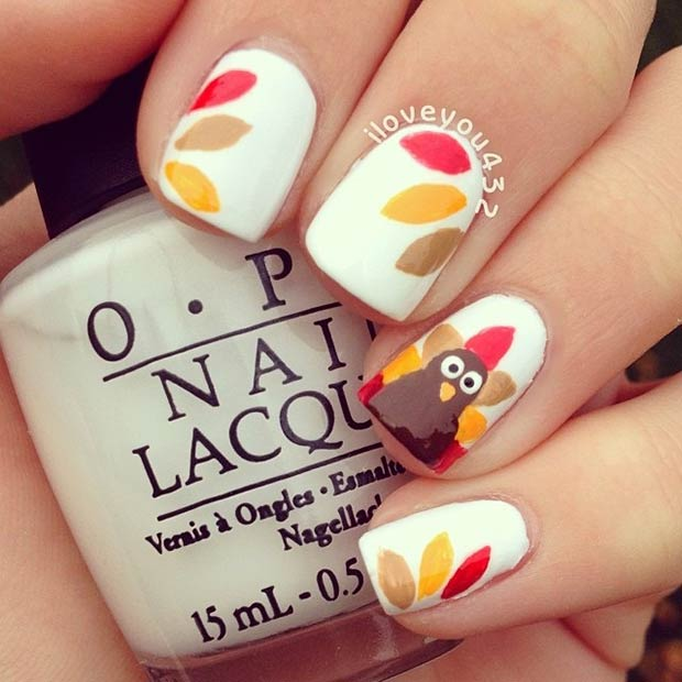 21 Amazing Thanksgiving Nail Art Ideas | StayGlam