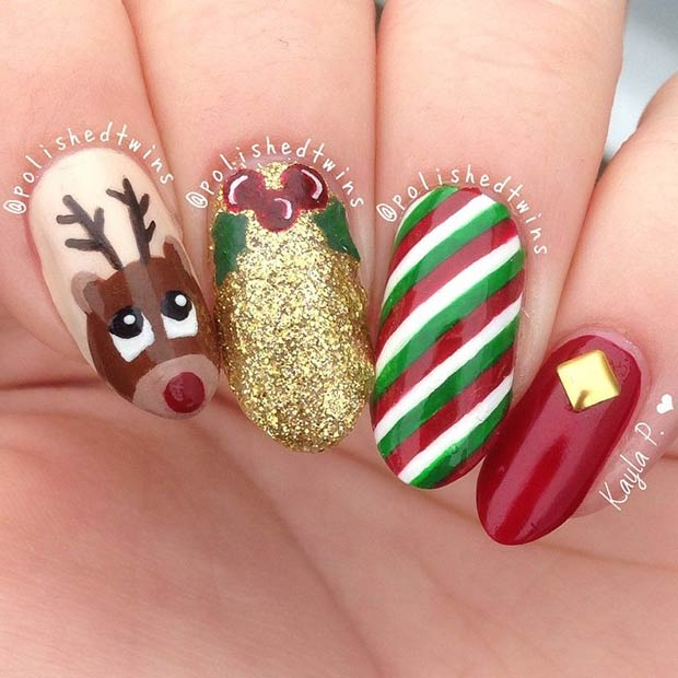 Cute Christmas Manicure Idea