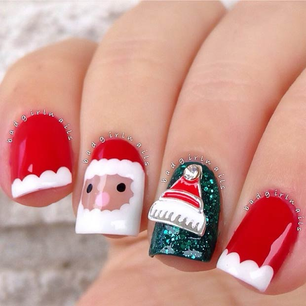Santa Christmas Manicure