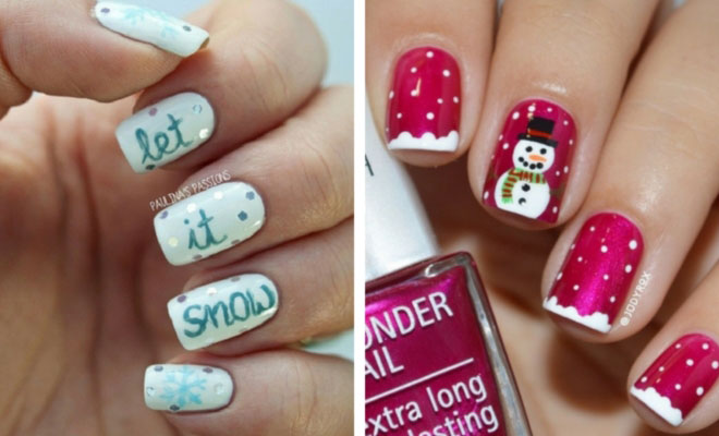31 Cute Winter-Inspired Nail Art Designs StayGlam - Cute Winter Nail Designs Graham Reid
