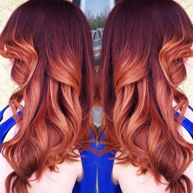 Watch 15 Hottest Brown Hair with Red Highlights video