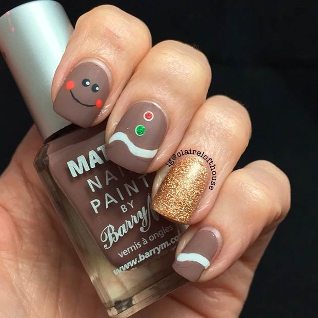 Ginger Bread Nails for Holidays