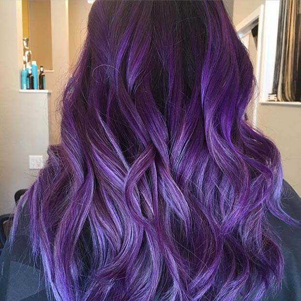 21 Looks That Will Make You Crazy For Purple Hair Page 2 Of 2