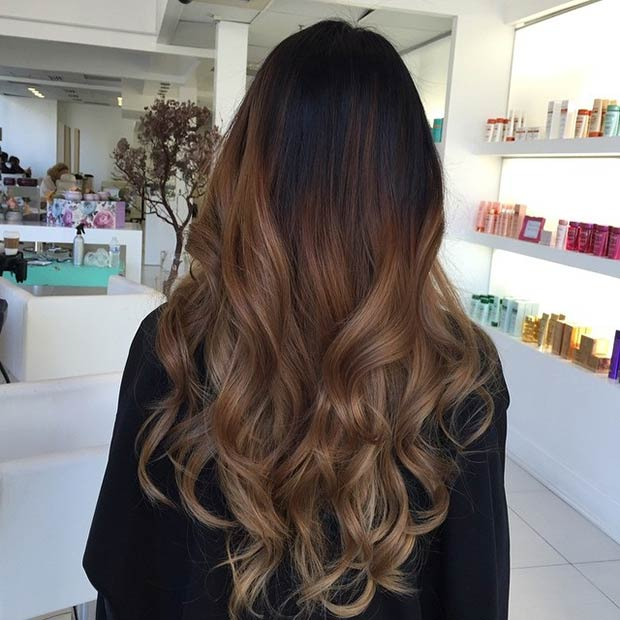 Caramel Balayage on Long Hair. Instagram / beauty_supreme