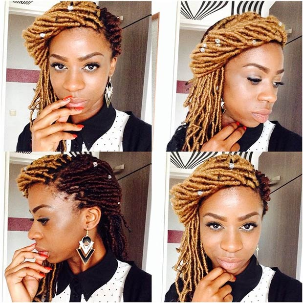 Wondrous 31 Faux Loc Styles For African American Women Page 2 Of 3 Stayglam Short Hairstyles Gunalazisus