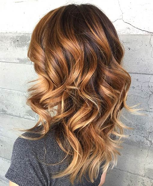 41 hottest balayage hair color ideas for 2016 stayglam - Balayage oeil de tigre ...