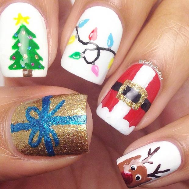 Creative Design Christmas Nail Art