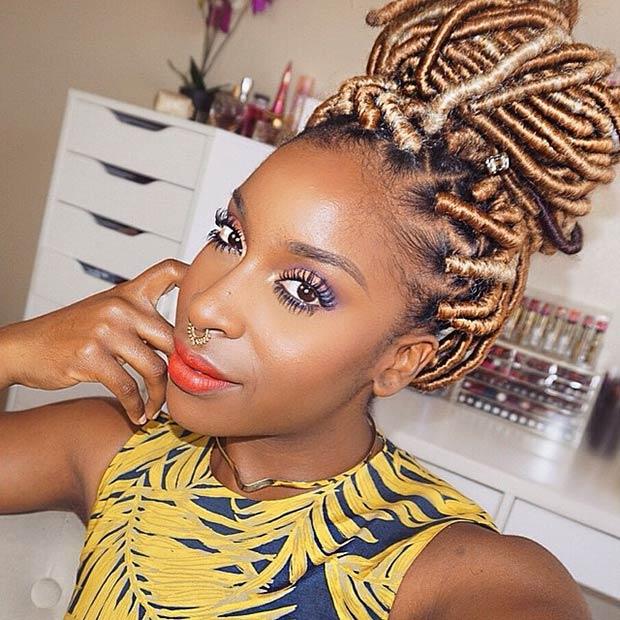 Fine 31 Faux Loc Styles For African American Women Stayglam Short Hairstyles Gunalazisus