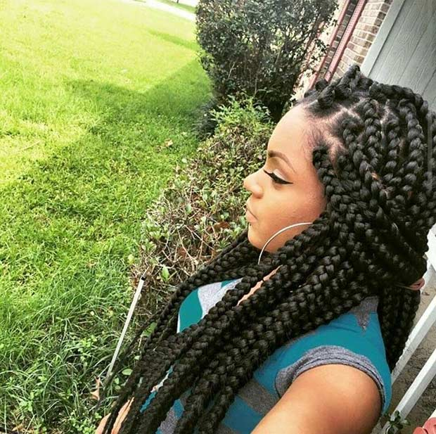 21 Best Jumbo Box Braids Hairstyles | StayGlam