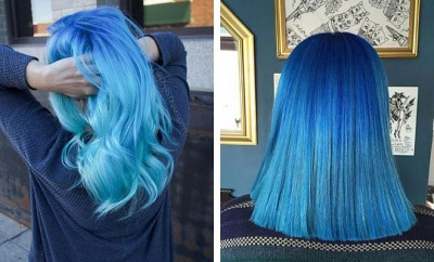Blue Ombre Hair Color Ideas