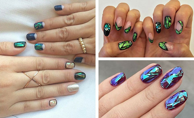 31 Jaw-Dropping Broken-Glass Nail Designs   StayGlam