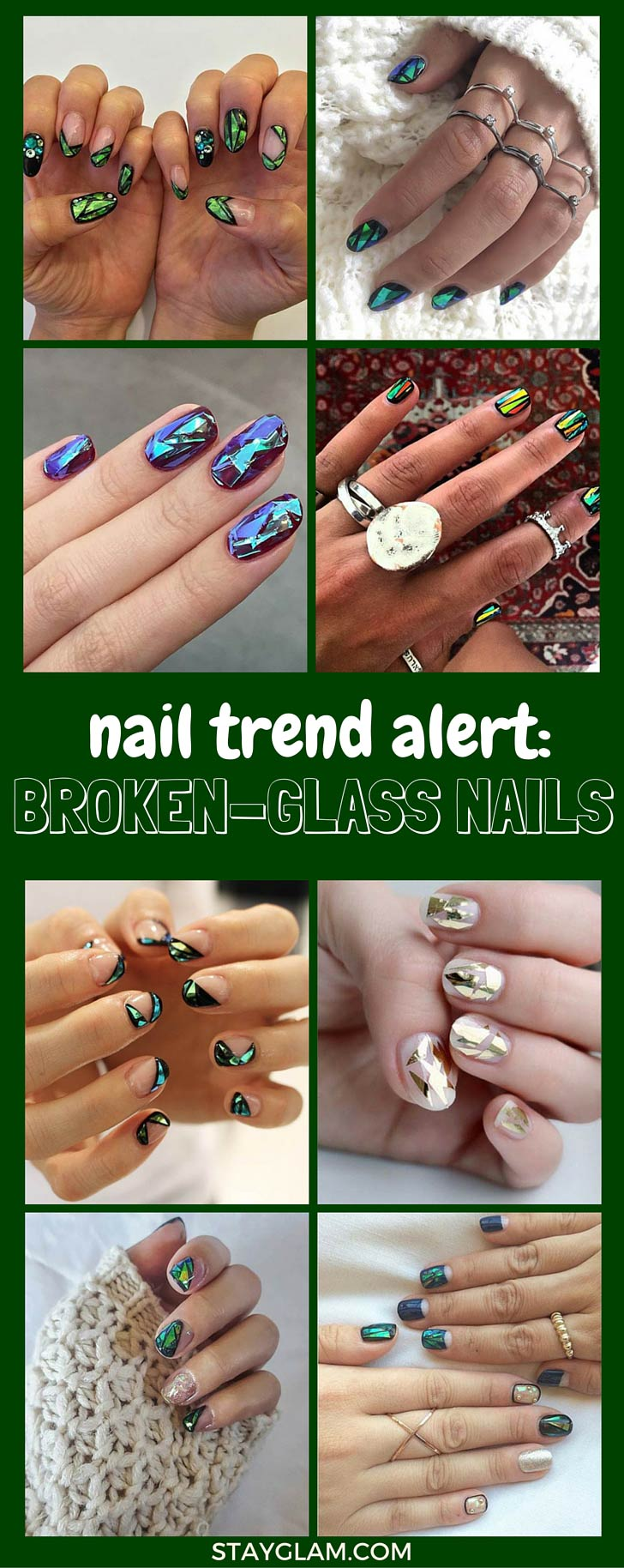 Broken Glass Nails Pinterest