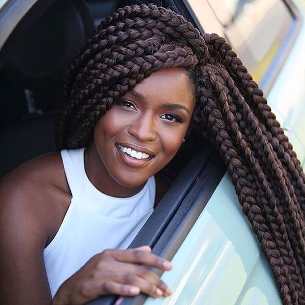 21 Best Jumbo Box Braids Hairstyles Stayglam