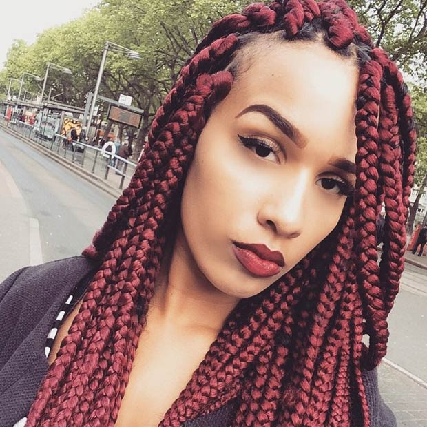 Lace Box Braids Wig With Baby Hair Black Synthetic Front Heat Resistant African American Braided Wigs On Aliexpress Com Alibaba Group