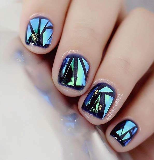 31 Jaw Dropping Broken Glass Nail Designs Page 3 Of 3