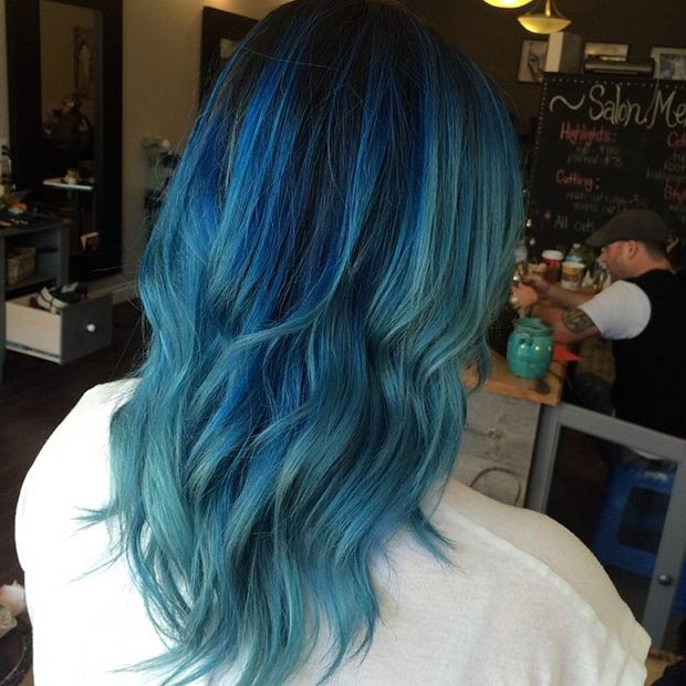 21 Bold And Beautiful Blue Ombre Hair Color Ideas Page 2 Of 2