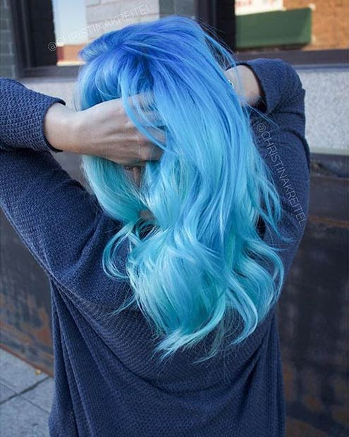 21 bold and beautiful blue ombre hair color ideas stayglam. Black Bedroom Furniture Sets. Home Design Ideas