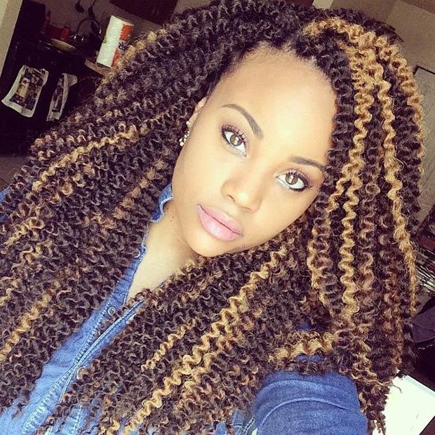 Sensational Black Hair With Blonde Braids Braids Short Hairstyles For Black Women Fulllsitofus