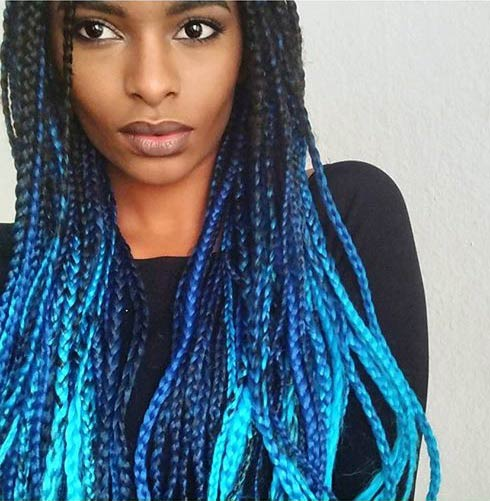 21 Bold And Beautiful Blue Ombre Hair Color Ideas Page 2 Of 2 Stayglam