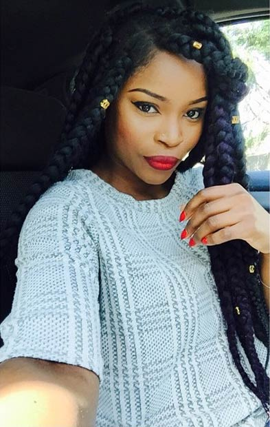 61 Best Jumbo Box Braids Hairstyles Stayglam