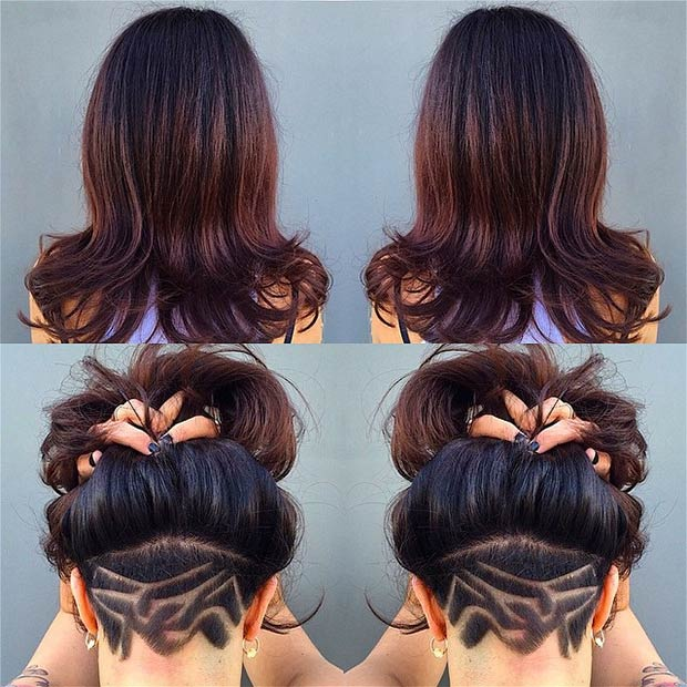 Long Hair For Undercut : 31 trendy undercut styles for bold women page 2 of 3 stayglam