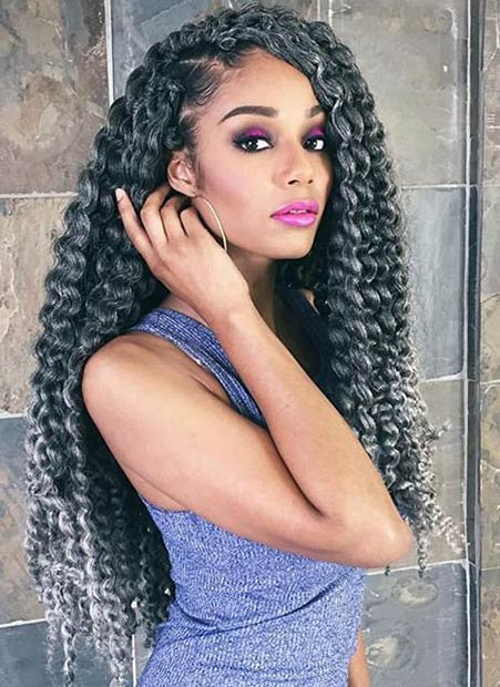 Grey Crochet Hair Styles : 41 Chic Crochet Braid Hairstyles for Black Hair Page 4 of 4 ...