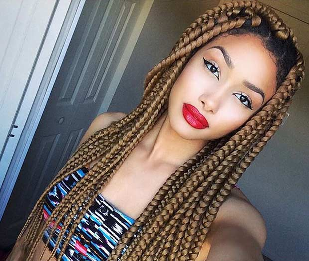 41 Best Jumbo Box Braids Hairstyles Page 2 Of 4 Stayglam