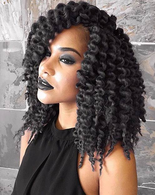Corkscrew Twist Braid 41 chic crochet braid hairstyles for black hair ...