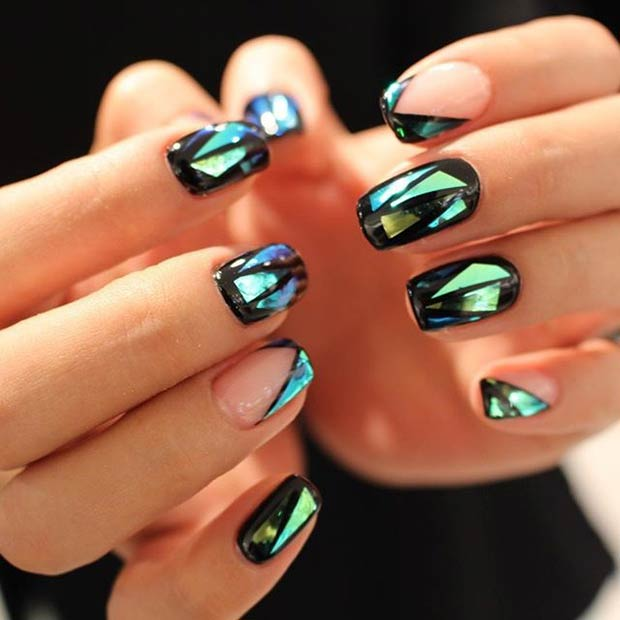 31 Jaw-Dropping Broken-Glass Nail Designs | Page 2 of 3 | StayGlam