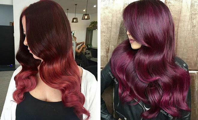 Straight Dark Brown Hair With Red Highlights