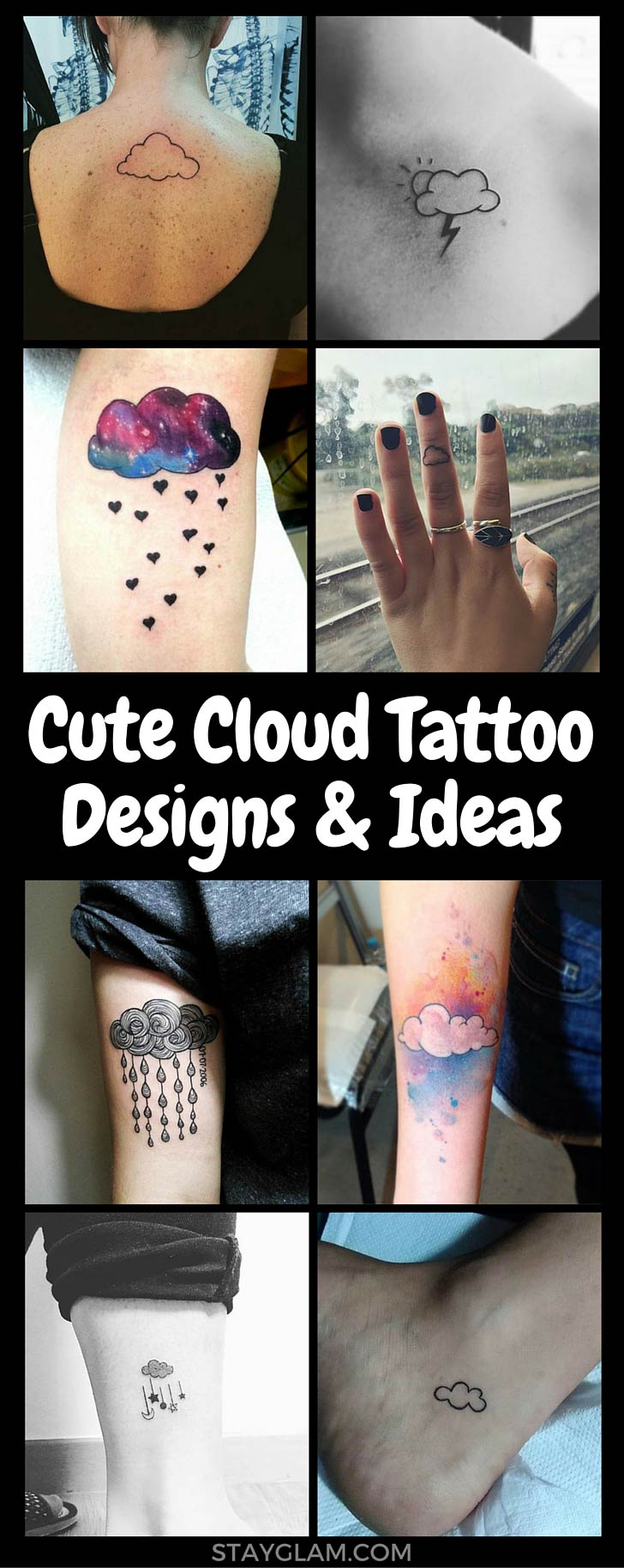 Cute Cloud Tattoo Designs and Ideas